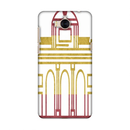 Huawei Y5 2017 Case, Premium Handcrafted Printed Designer Hard Snap on Shell Case Back Cover with Screen Cleaning Kit for Huawei Y5 2017 - Puerta De Toledo- Spain flag - Toledo 2017 Halloween
