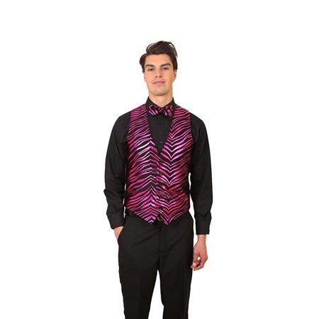 Rose Print Vest (Men's Zebra Print Vest)