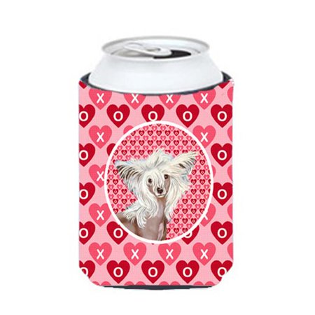 Chinese Crested Valentines Love and Hearts Can or bottle sleeve Hugger - image 1 de 1