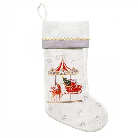Avanti Mr Christmas Carousel Stocking-light/music - White ()