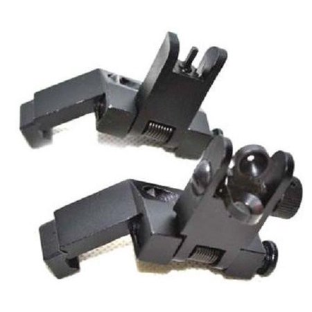 Front and Rear Flip Up 45 Degree Offset Rapid Transition Backup Iron (Best Budget Iron Sights)