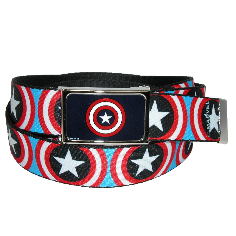 Buckle Down  Big & Tall Mavel Captain America Shield Adjustable Belt