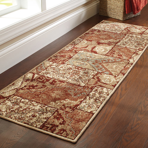 "Better Homes and Gardens Global Patchwork Olefin Runner Rug, 1'9"" x 5'6"""