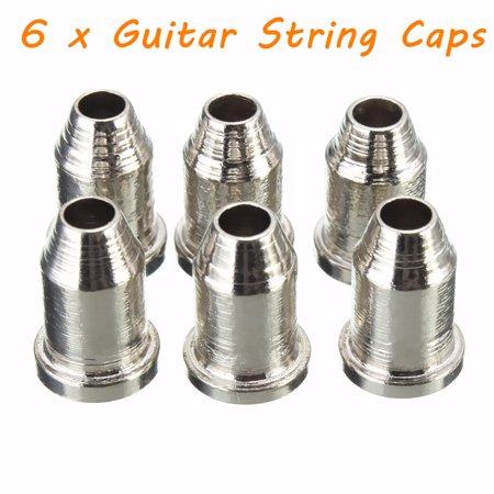 "6PCS Chrome Guitar String Through Body Ferrule 1/4"" String Ferrules Telecaster - image 7 of 7"