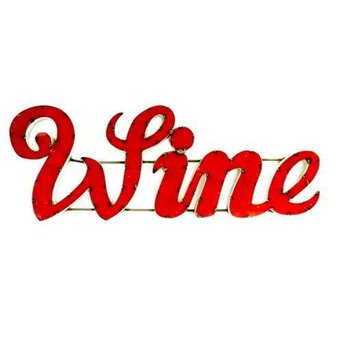 Rustic Arrow Wine Sign with Rebar Wall D cor