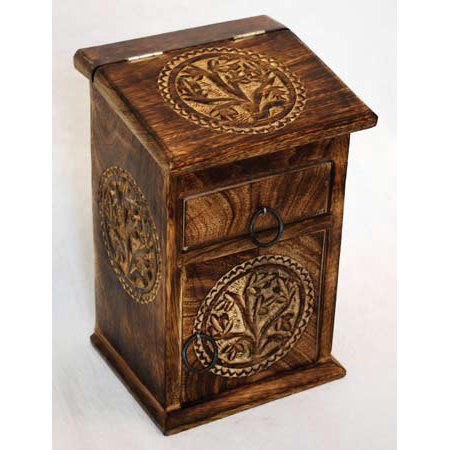 Fortune Telling Toy Storage Box Cupboard Herb Magic Supplies Chest Wood Small Tree of Life - Tree Boxes
