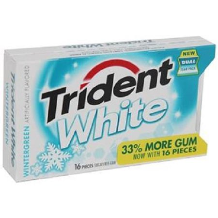 Wintergreen Gum (Product Of Trident White, Wintergreen, Count 9 (16Pcs) - Gum / Grab Varieties & Flavors )