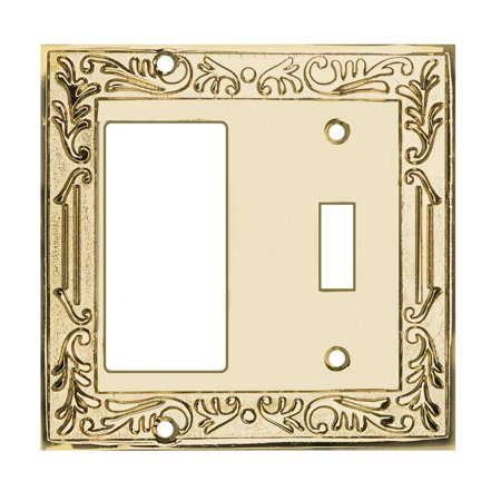 Victorian Switch Plate GFI Toggle PVD Solid Brass | Renovators Supply