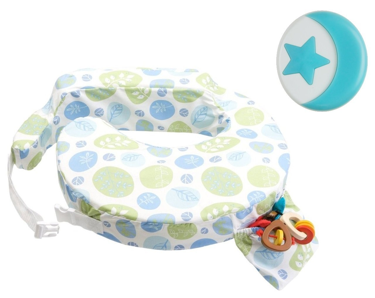 My Brest Friend Original Breastfeeding Pillow with Blue Nursing Light, Blue Bells by My Brest Friend