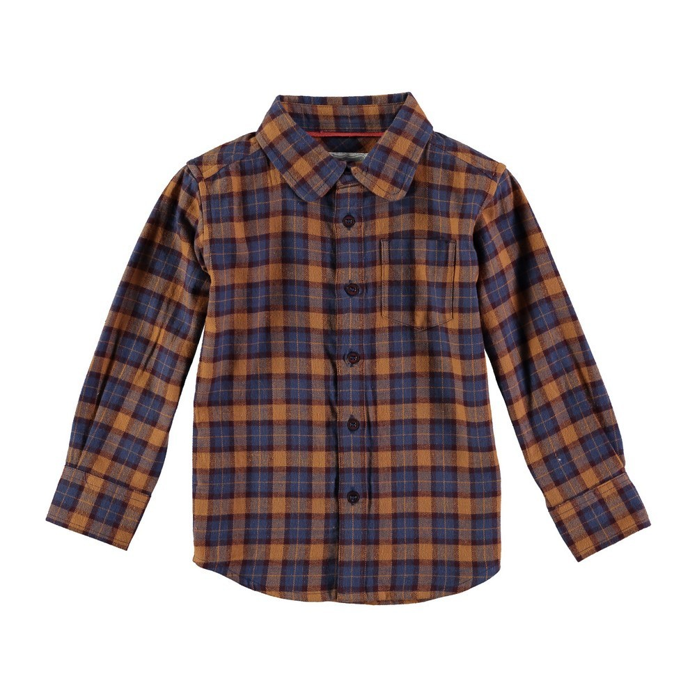 Rockin' Baby Boys Blue Blue Brushed Checked Shirt