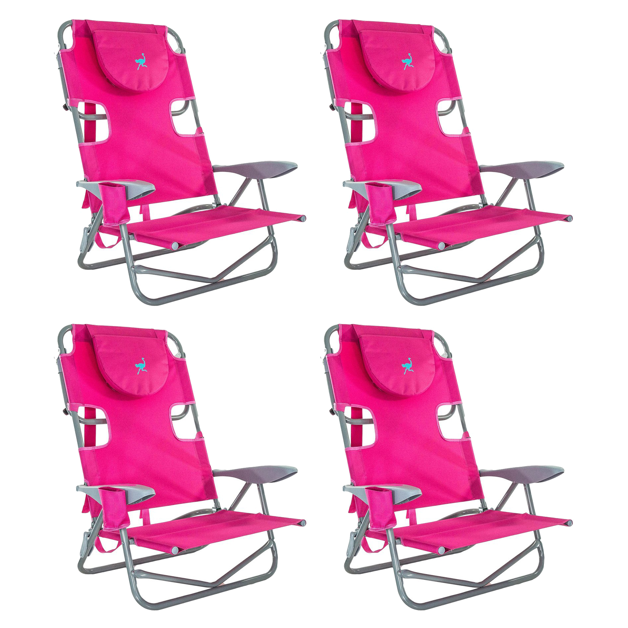 Ostrich On-Your-Back Backpack Beach Chair 5 Position Extra Wide