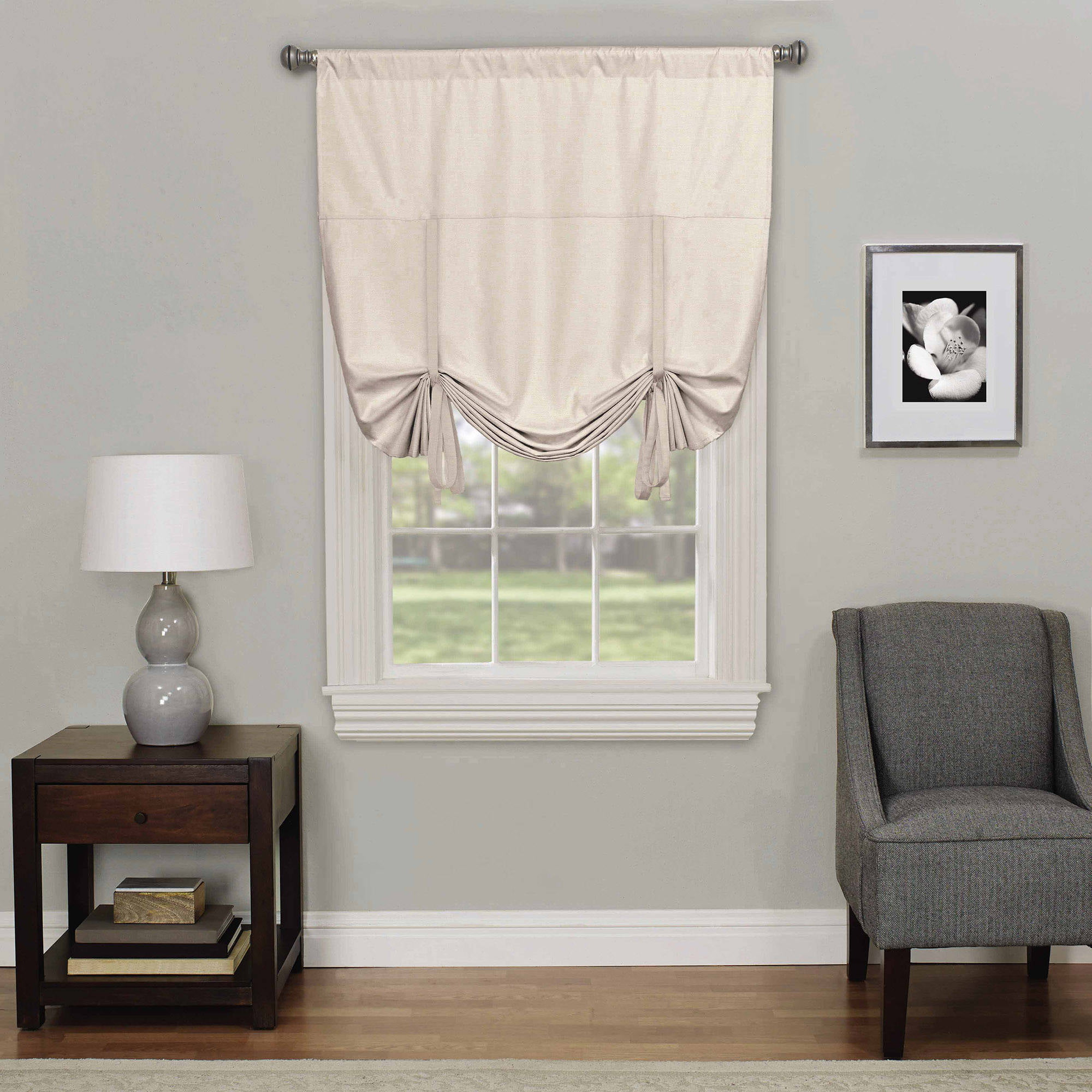 Cheap Roman Shades Clearance - Eclipse kendall blackout window tie up shade
