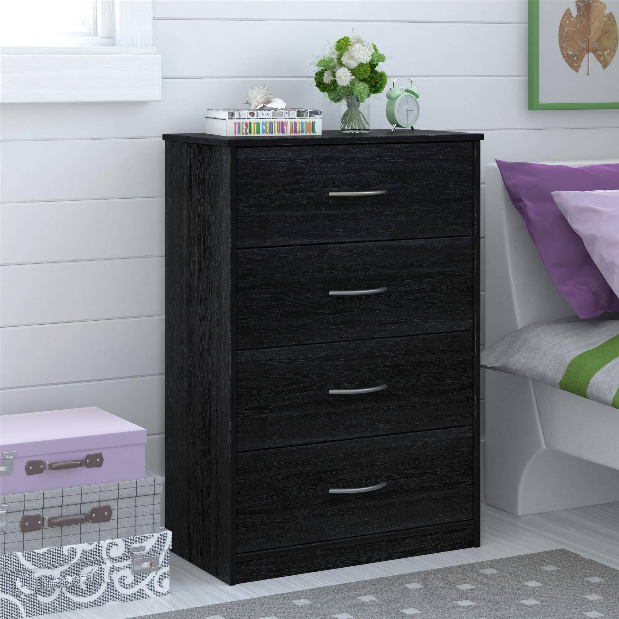 Mainstays 4-Drawer Easy Glide Dresser, Multiple Finishes