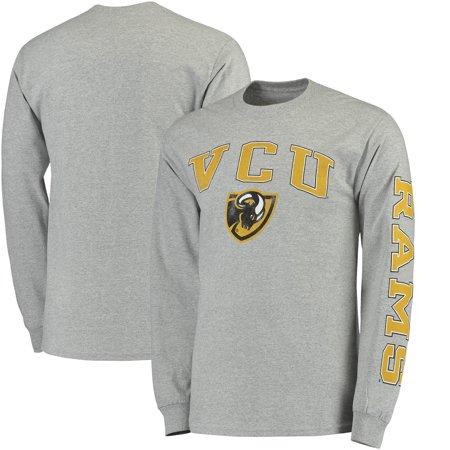 VCU Rams Fanatics Branded Distressed Arch Over Logo Long Sleeve Hit T-Shirt - Gray Vcu Rams Top
