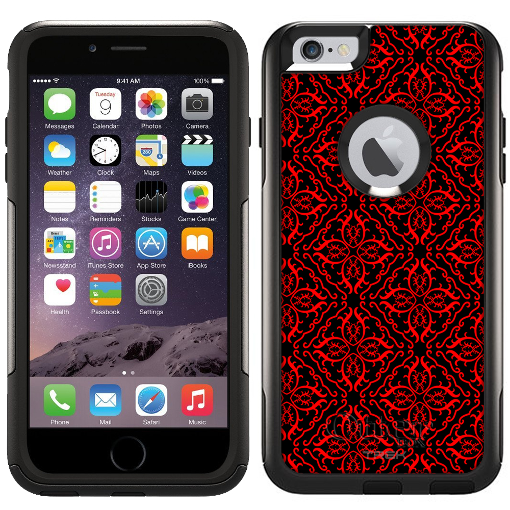 Otterbox Commuter Case for Apple iPhone 6 Plus - Victorian Royalty Red on Black
