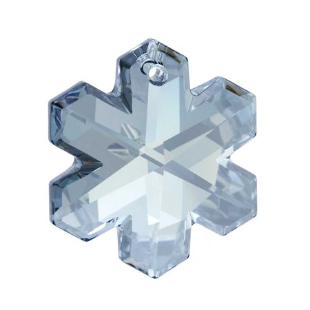 Snowflakes To Hang From Ceiling (Crystal, #6704 Snowflake Pendant 25mm, 1 Piece, Crystal Blue)