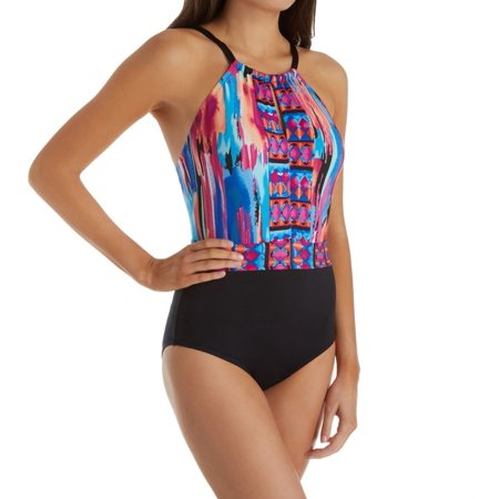 3ec05404a09 Jantzen - Women s Jantzen 8099 Brush Strokes Tummy Control One Piece  Swimsuit - Walmart.com