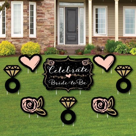 Best Day Ever - Yard Sign & Outdoor Lawn Decorations - Bridal Shower Yard Signs - Set of 8 (Shower Sign)