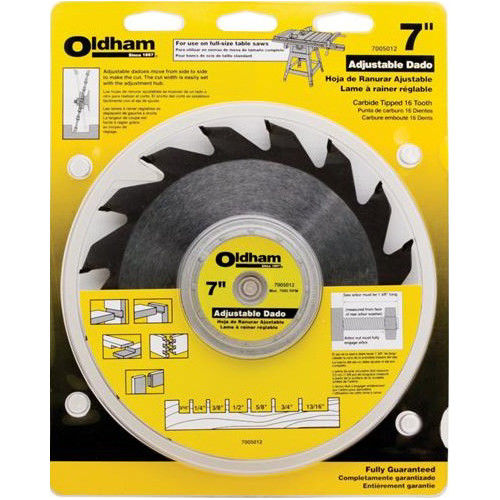 Porter-Cable 7005012 Oldham 7 in. Adjustable Dado Blade by Oldham Saw Blades