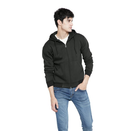 ab523a0f Black Fleece Jackets for Men Knit Zip Up Jacket for Mens Big and Tall Full  Zip Pullover Hoodie Jacket for Mens Casual Winter Fashion Online by Oussum