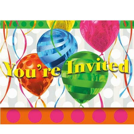 Balloon Invitations (Balloon Brights Party Invitations with)