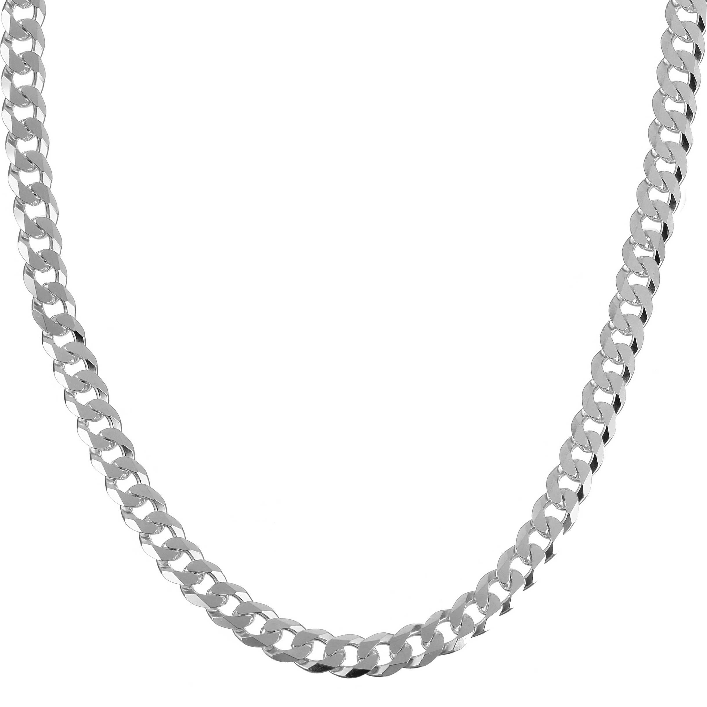 """46 CM 1 STERLING SILVER 925 STRONG MEDIUM WEIGHT CURB NECKLACE CHAIN 18/"""""""
