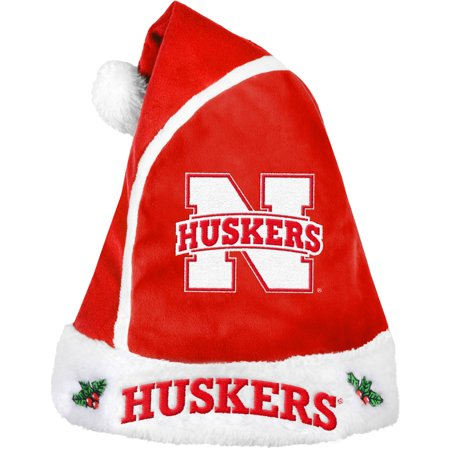 Forever Collectibles NCAA 2015 Santa Hat, University of Nebraska Huskers