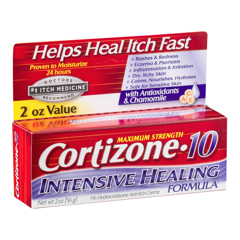 Cortizone 10 Intensive Healing Anti-Itch Crème 2oz, Value Size