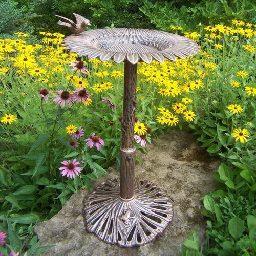 5065-A Sunflower Birdbath by Oakland Living