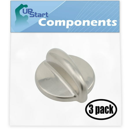 3 Pack Replacement Surface Burner Control WB03K10303 Range, Stove, Oven Control Knob for General Electric JGB918SEL2SS Gas Range - image 4 of 4