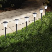 Set of 6 Waterproof Solar Garden Path Lights - Automatic On at Dusk/Off at Dawn