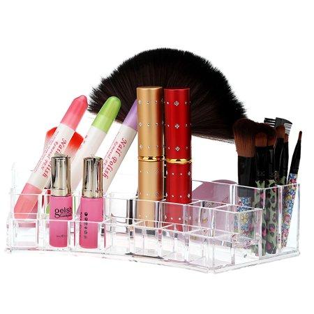 Transparent Crystal Desktop Dermo Protector Cosmetics Storage Organizer Rack Accessories Jewelry Finishing Box (Crystal Transparent Protector)