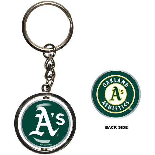Oakland Athletics Spinner Key Ring - No Size
