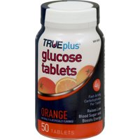 Trueplus Glucose Tablets Orange Flavor - 50 Count