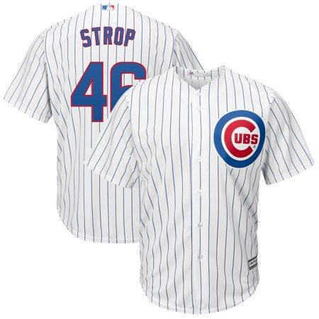 Pedro Strop Chicago Cubs Majestic Home Cool Base Replica Player Jersey - White ()
