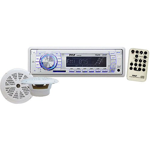 Pyle Marine AM/FM PLL Tuning Radio, White