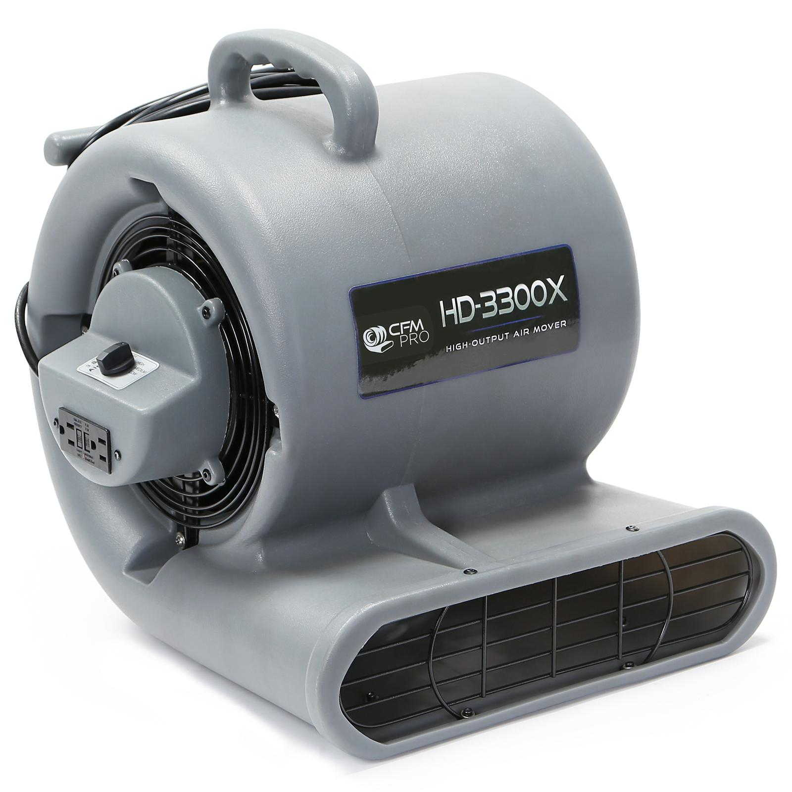 CFM PRO Air Mover & Carpet Dryer Blower Fan - 3,300 Series