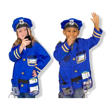 Melissa & Doug Police Officer Costume Set (Police Dress Up Costume)