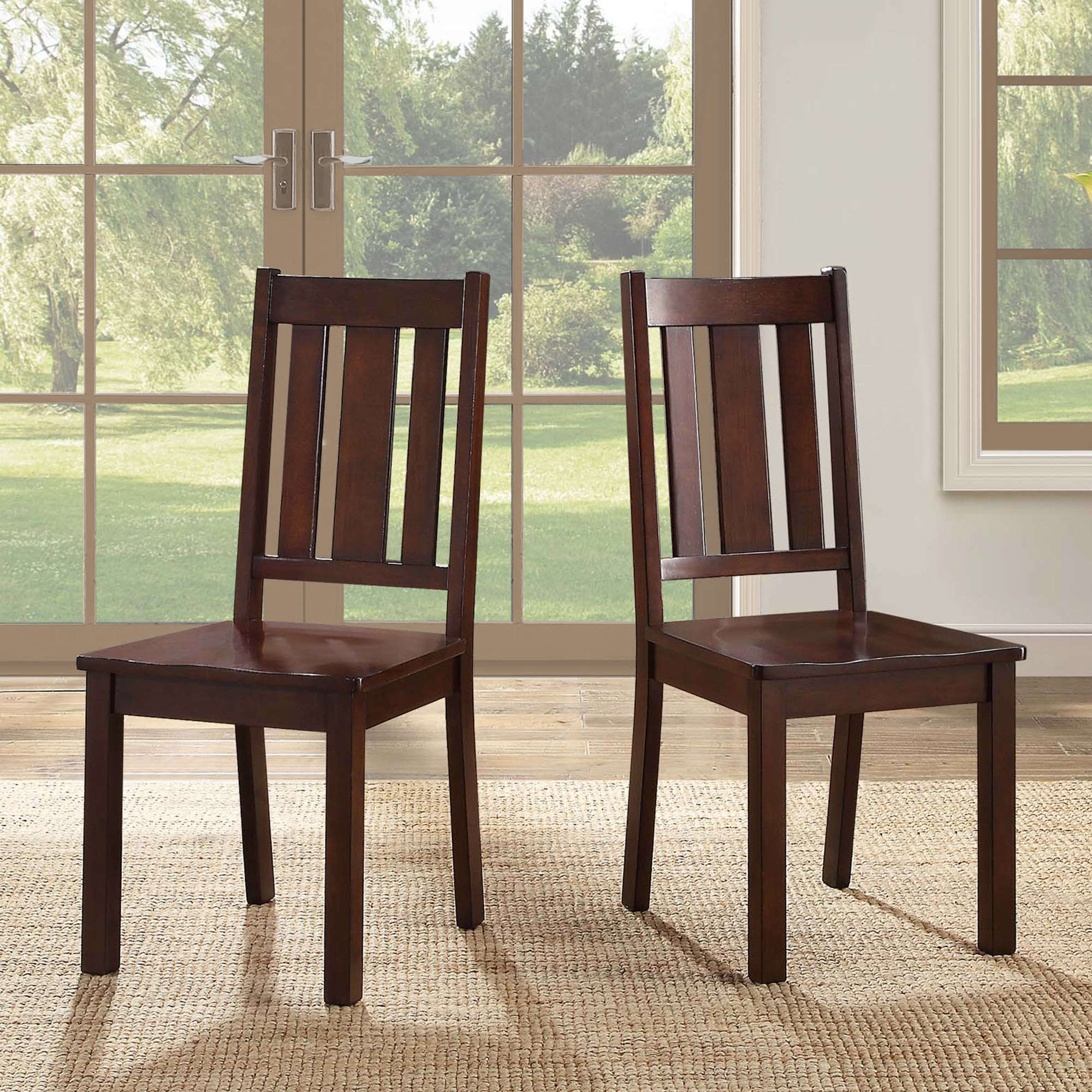 Better Homes and Gardens Bankston Dining Chairs, Set of 2, Mocha by