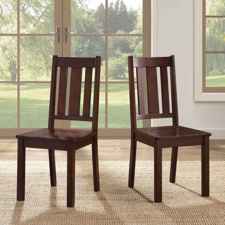 Better Homes and Gardens Bankston Dining Chair, Set of 2, Mocha ()