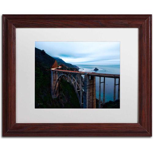 "Trademark Fine Art ""Big Sur - Bixby Bridge - California-II"" Canvas Art by David Ayash, White Matte, Wood Frame"