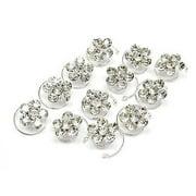 12pcs Lots Wedding Bridal Crystal Flower Twist Spiral Hair Pins Clips Hairpins