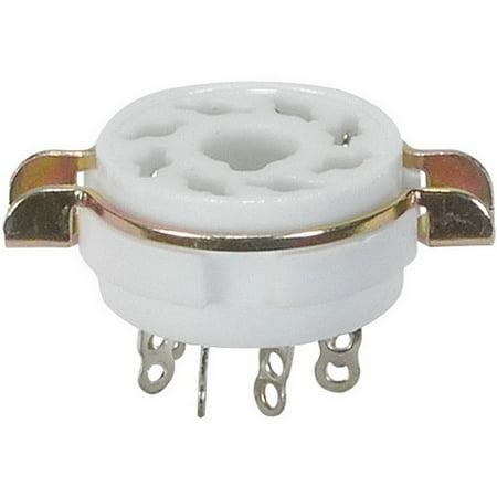 Mount Tube Socket (8-Pin Vacuum Tube Socket Ceramic with Mounting Bracket )