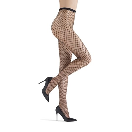 MeMoi Maxi Net Black Fishnet Pantyhose Tights by MeMoi Large / Black MM 633