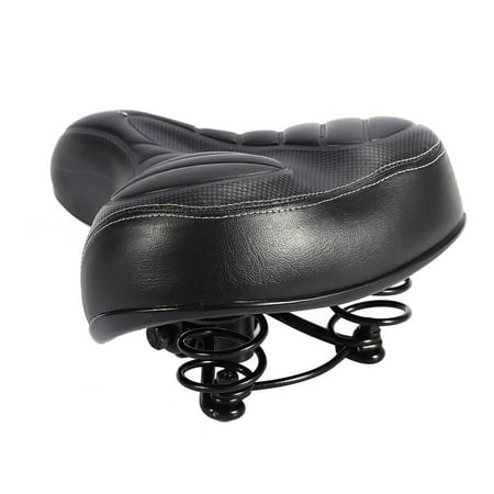 WALFRONT High Quality Comfort Wide Big Bum Mountain Road Bike Bicycle Sporty Soft Pad Saddle Seat Black,Bicycle Soft Pad - image 2 de 7
