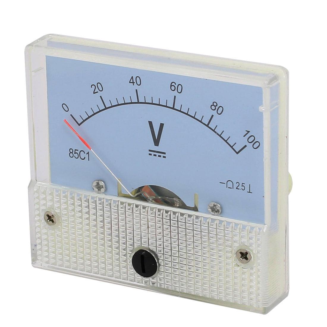 Unique Bargains Class 25 Accuracy Dc 0 100v Dial Panel Gauge Voltmeters Voltmeter Voltage Meter 85c1