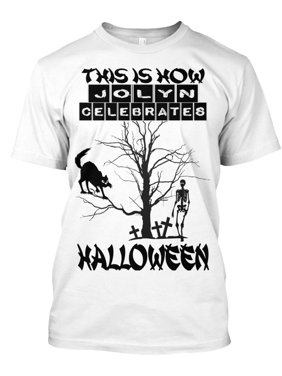 36b53b896d1bc Product Image THIS IS HOW JOLYN CELEBRATES HALLOWEEN 2 Hanes Tagless Tee T- Shirt