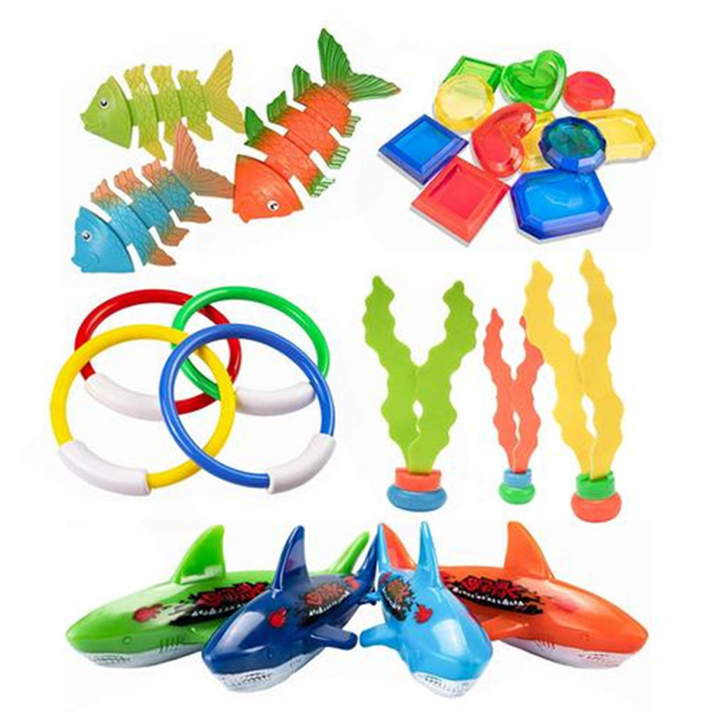 3pcs//set Throwing Toy Swimming Pool Diving Game Underwater Toys For Child KY
