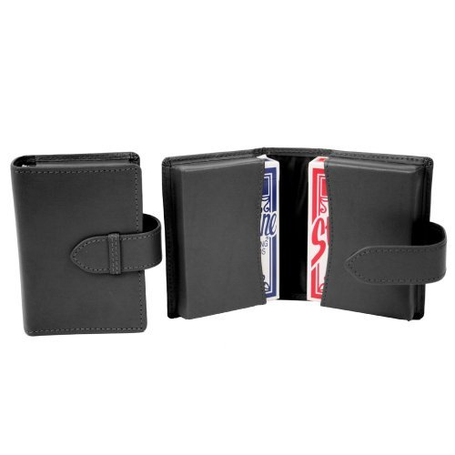 Royce Leather Double Decker Playing Card Case