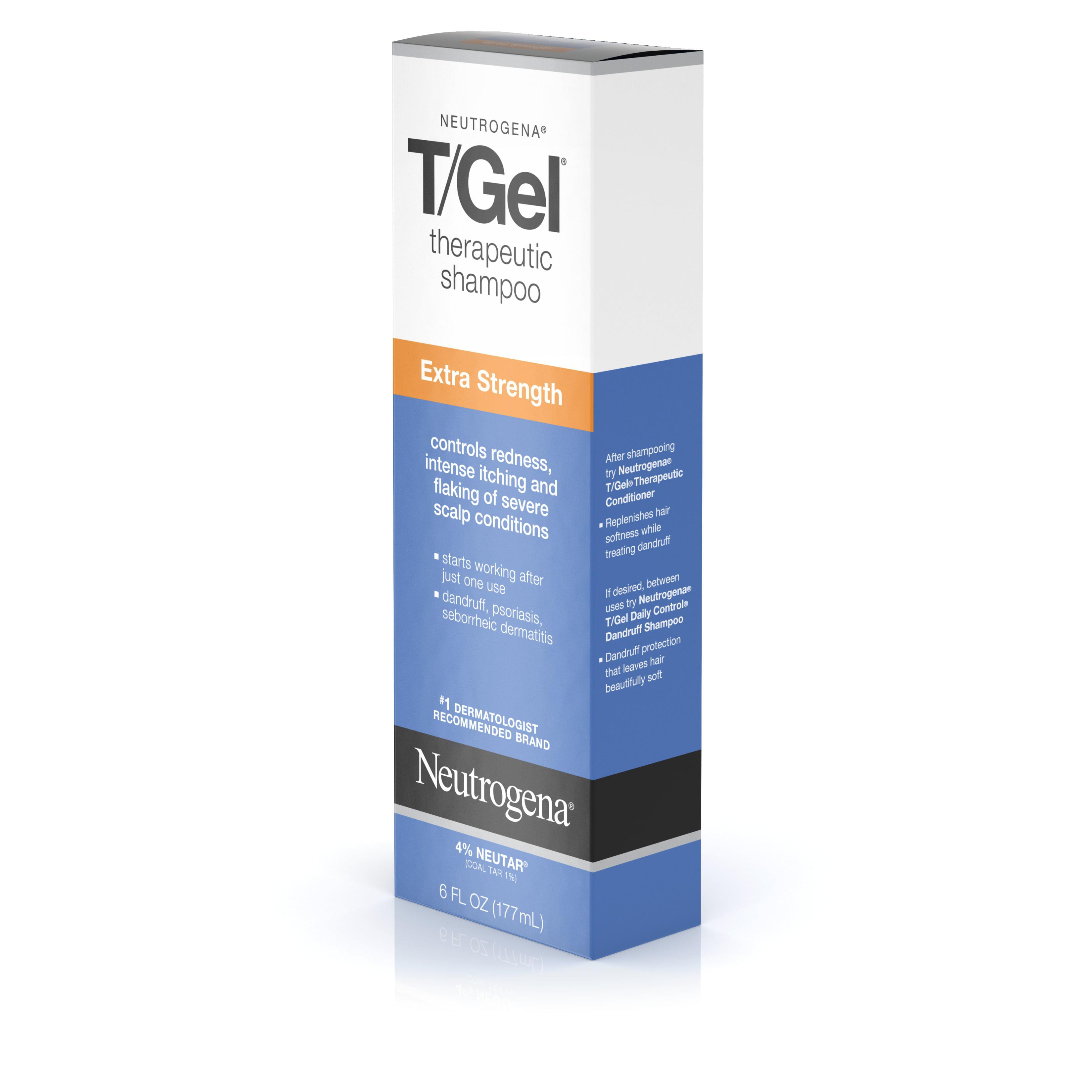 neutrogena t gel extra strength therapeutic shampoo 6 oz